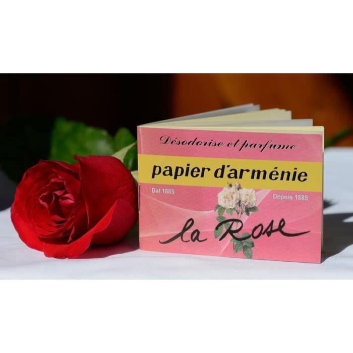 Papier d'Arménie à la Rose - Encens Papier D'Armenie Triple
