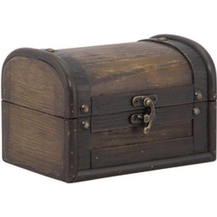 Securit Coffre au trésor -Treasure Antique-, en aggloméré 0,000000 Noir