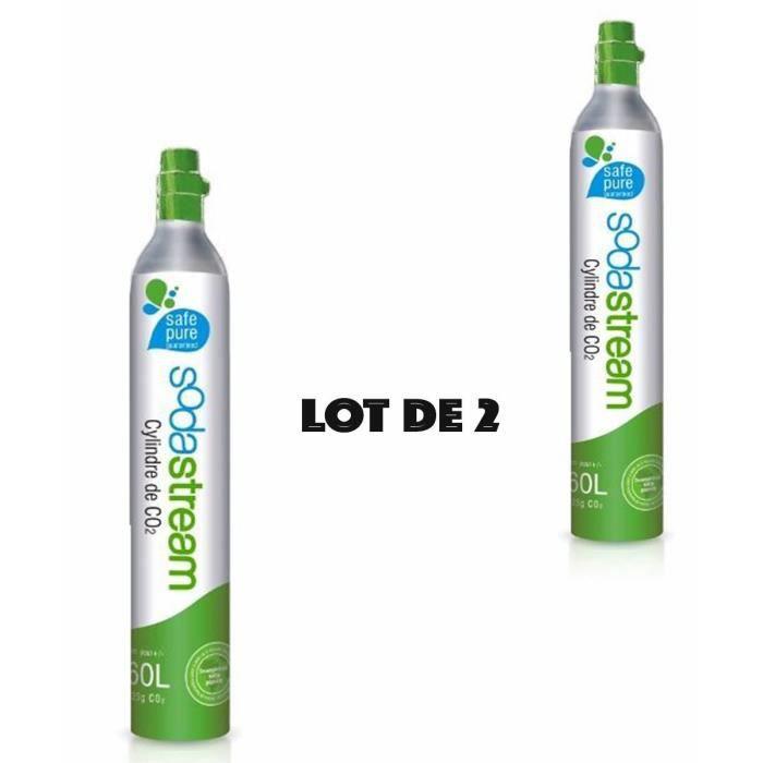 Lot de 2 RECHARGES CO2 SODASTREAM 60 L X 2