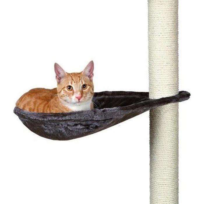 TRIXIE Hamac - Nid XL pour griffoir pour chat gris platinium peluche ø 40 cm
