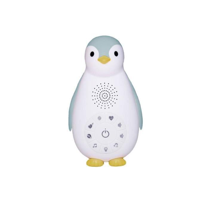 ZAZU Boîte à Musique Veilleuse Bluetooth Zoe Le Pingouin Bleu