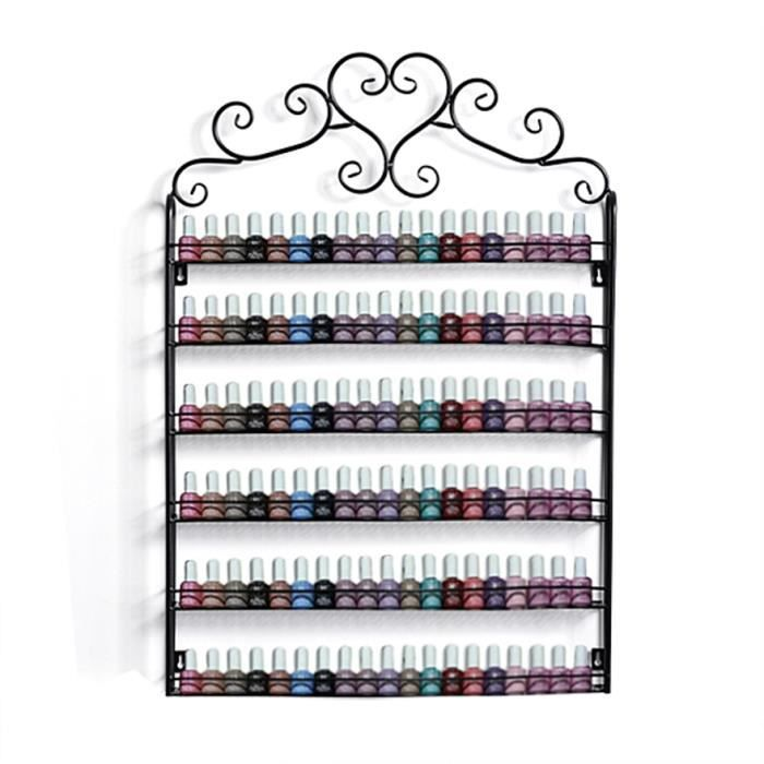 Support m tal vernis ongles tag re murale 120 - Etagere murale pour vernis a ongle ...