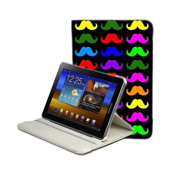 housse tablette samsung tab 2 7 moustaches ap achat. Black Bedroom Furniture Sets. Home Design Ideas