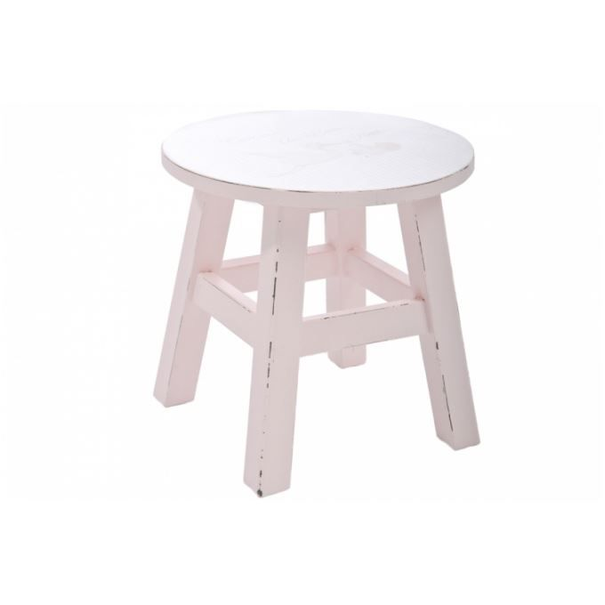 tabouret enfant en bois rose cigogne achat vente tabouret rose cdiscount. Black Bedroom Furniture Sets. Home Design Ideas