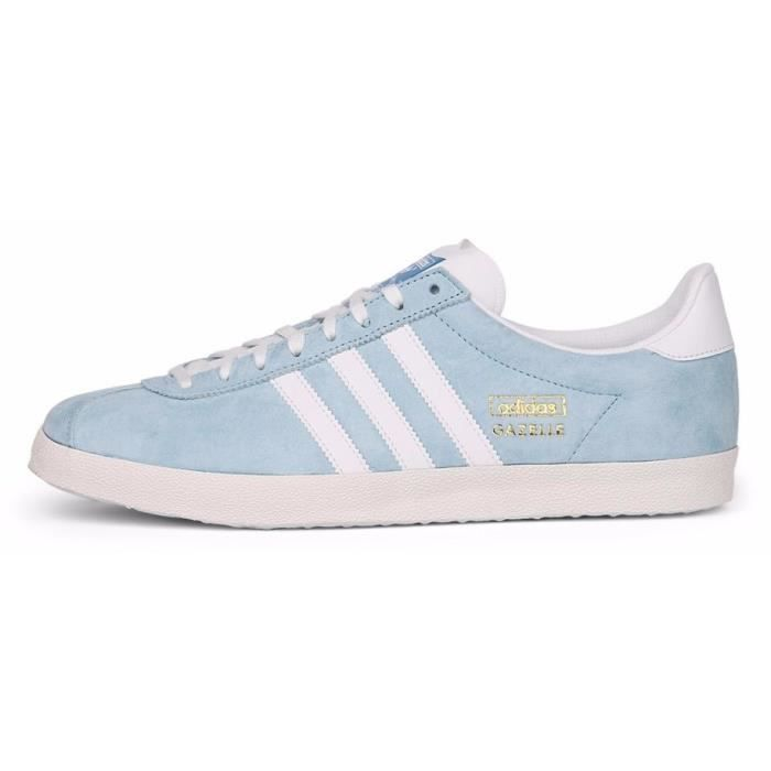 adidas originals baskets gazelle og homme homme bleu ciel et blanc achat vente adidas. Black Bedroom Furniture Sets. Home Design Ideas