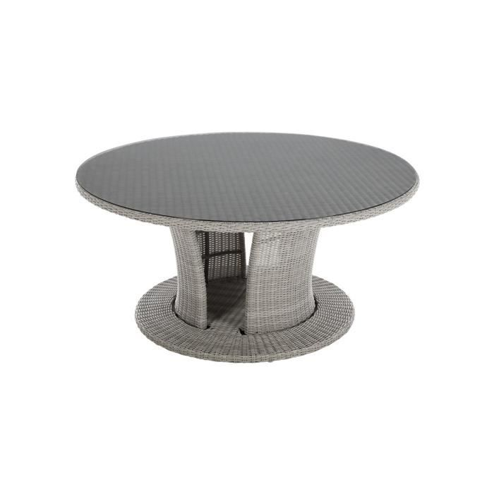 Table de jardin ronde Cocoa 8 places - Hespéride