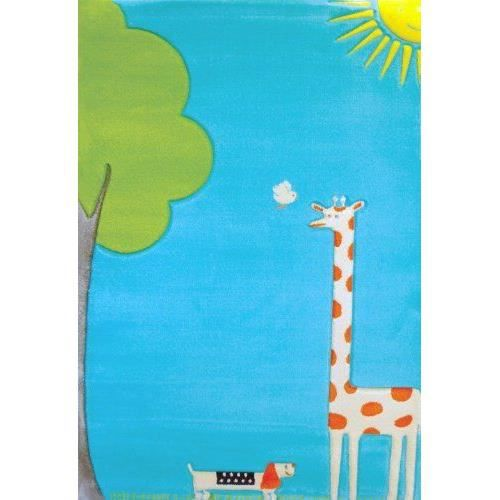 Little Helper Ivi Tapis Pais Hypoallerg Nique 3d Haute Qualit Th Me Girafe Turquoise Grand
