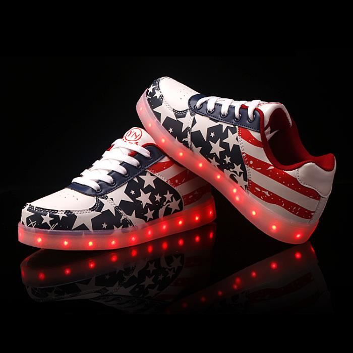 Chaussures LED 7 Couleurs Unisexe Femme Homme S...