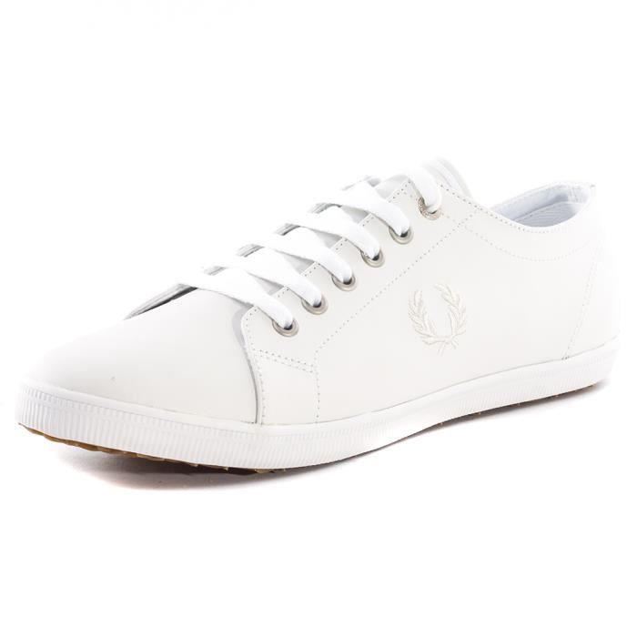 Fred Perry Kingston Hommes Baskets White White - 12 UK Q36Psk0Ic
