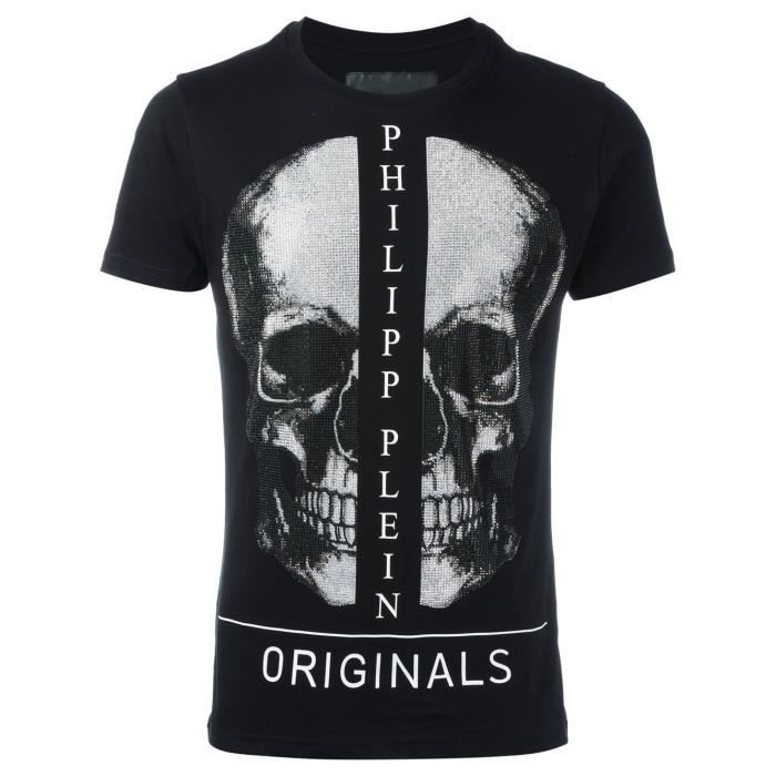 tshirt philipp plein homme collection 2017 noir noir achat vente t shirt cdiscount. Black Bedroom Furniture Sets. Home Design Ideas