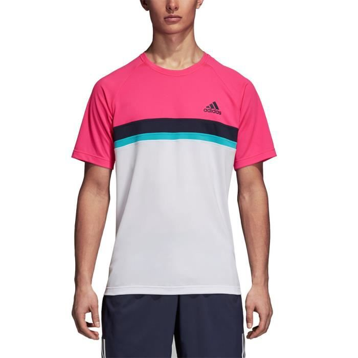 Adidas Hommes Club Colour Block T-Shirt De Sport