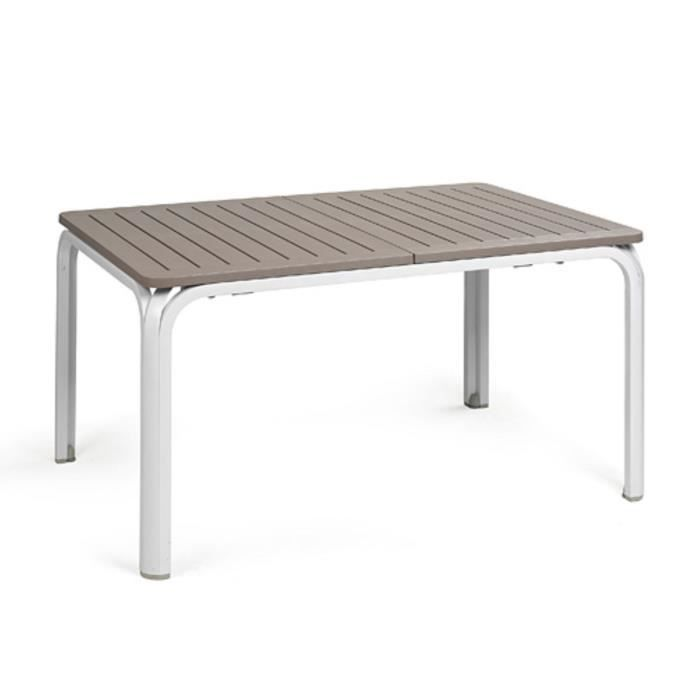 Table de jardin rectangulaire extensible en DurelTOP / aluminium 140 ...