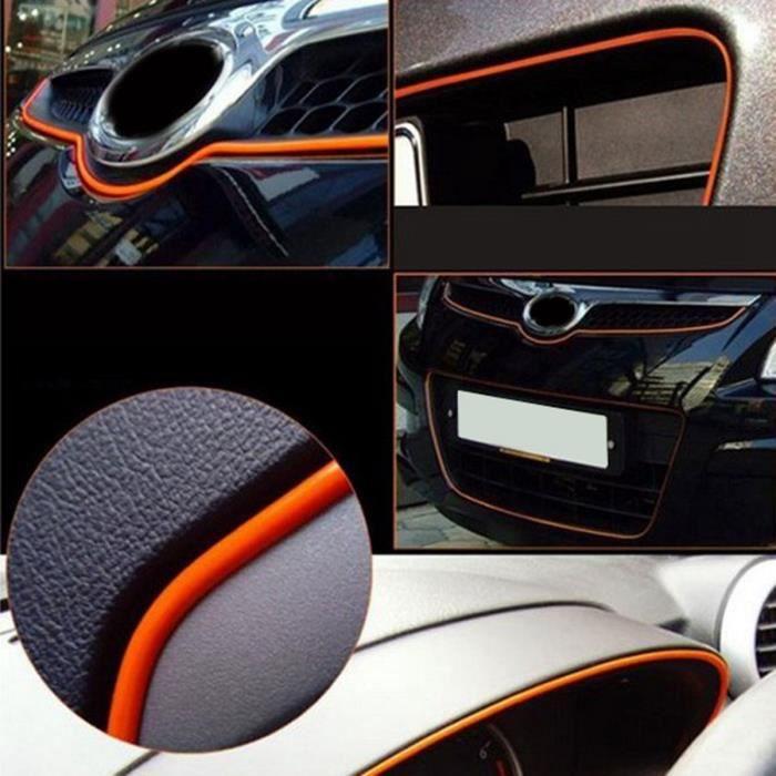 10 mètres chrome-noir porte voiture bord garde protecteur moulage trim molding strip