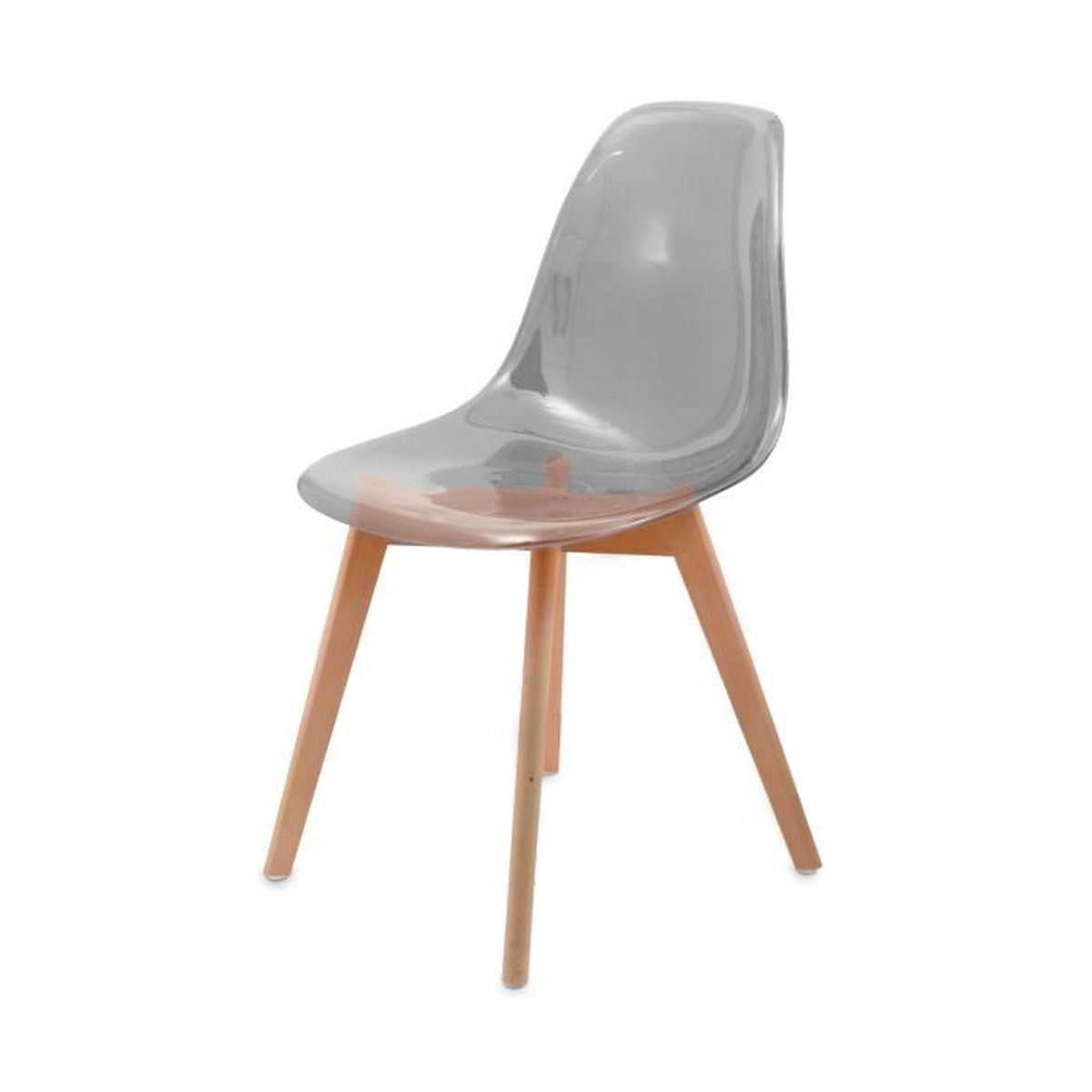 Chaise transparente scandinave gasoline avec pieds en bois d 39 h tre light - Chaise transparente discount ...
