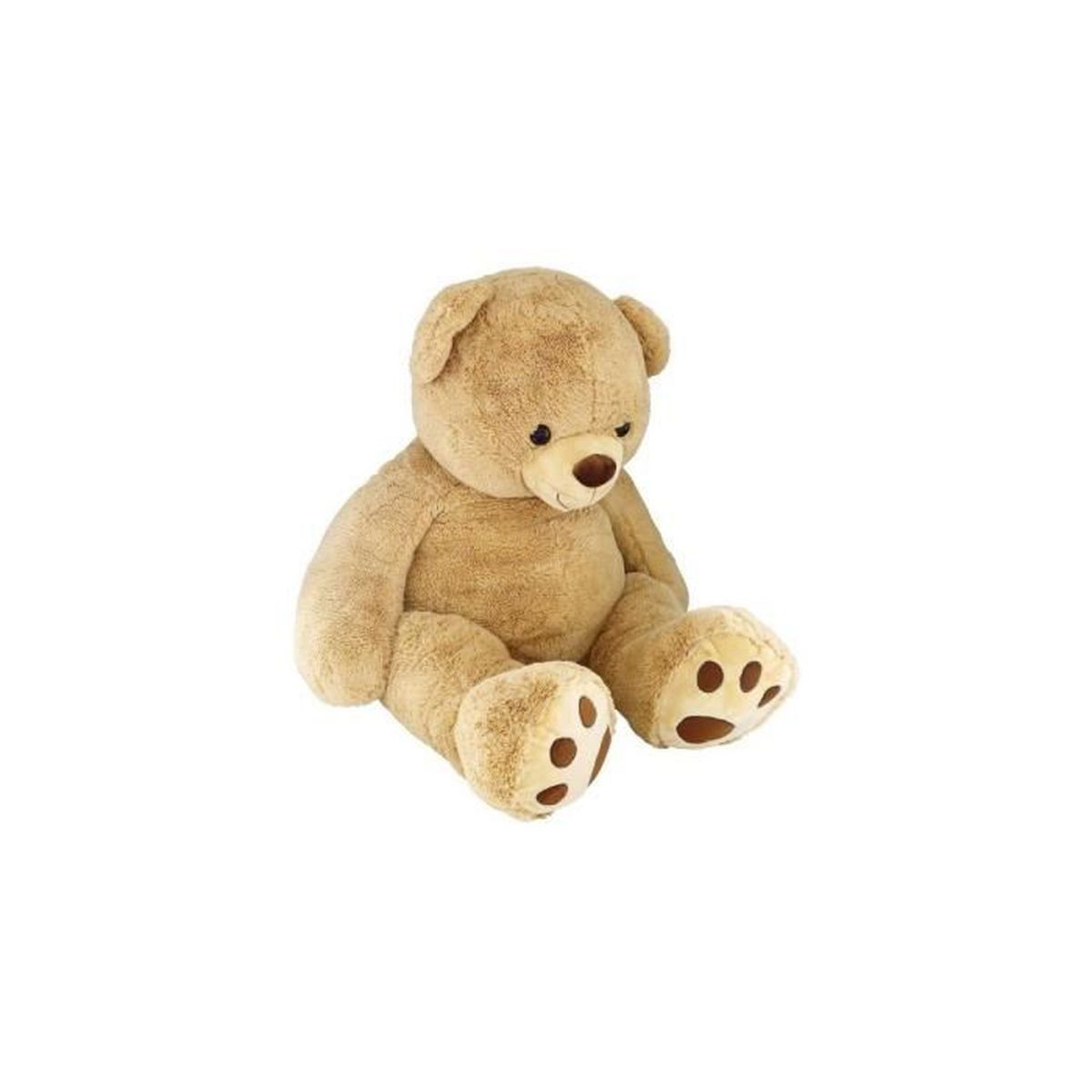 peluche mega ours beige 1 metre 35 teddy peluche. Black Bedroom Furniture Sets. Home Design Ideas