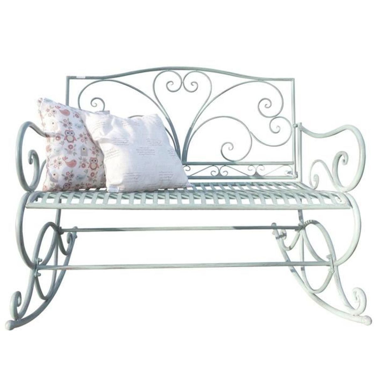 Blanc fer forge achat vente blanc fer forge pas cher cdiscount - Banc fer forge blanc ...