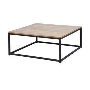 TABLE BASSE FACTO Table basse carré chêne - Décor chêne et noi