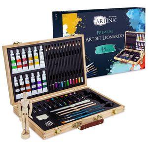 KIT PEINTURE Artina - Set de 45pcs pour peinture acrylique - Bo