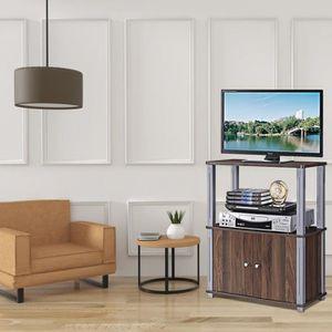 MEUBLE TV Meuble TV avec Compartiments en Bois Armoire de Ra