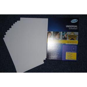 Étiquette classement 5 Feuilles Autocollante Papier Etiquette A4 21 x 2