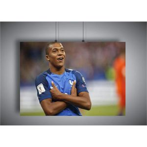 AFFICHE - POSTER Poster Mbappe Celebration Coupe du monde PSG 02 A3