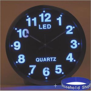 Montre murale digitale led - Horloge murale led bleue ...