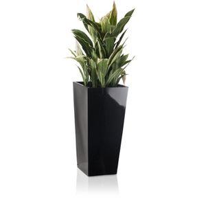 JARDINIÈRE - BAC A FLEUR pot en fibre de verre  gris  100878