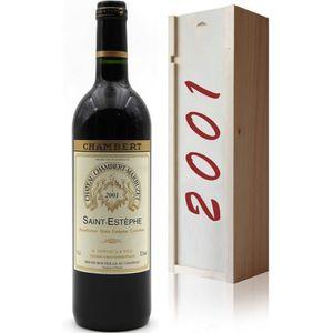 VIN ROUGE Coffret Château Chambert-Marbuzet 2001 Vin Rouge 7