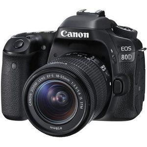 APPAREIL PHOTO RÉFLEX CANON Reflex EOS 80D + 18-55MM F/3.5-5.6 IS STM