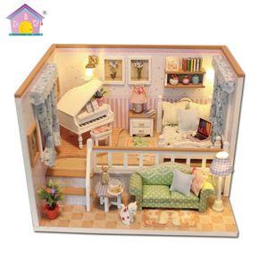 Maison De Poupees En Bois Bricolage Maison Miniature Kit