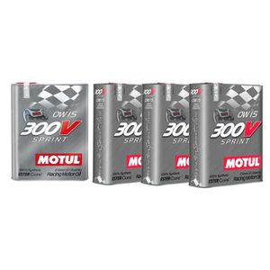 HUILE MOTEUR Huile moteur - MOTUL 104238 300V SPRINT 0W15 - 8 L