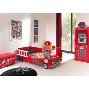 STRUCTURE DE LIT FUN Lit enfant Toddler Fire Truck Bed rouge - l 70