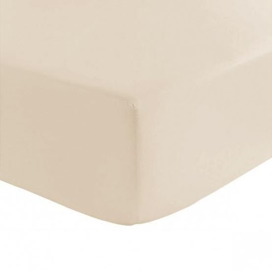 Drap House Percale 180x200 Bonnet 50 cm Couleur Blanc
