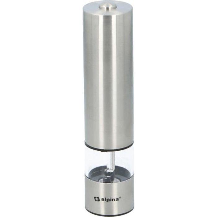 Alpina moulin à sel et à poivre 22,3 cm alu/ABS argent