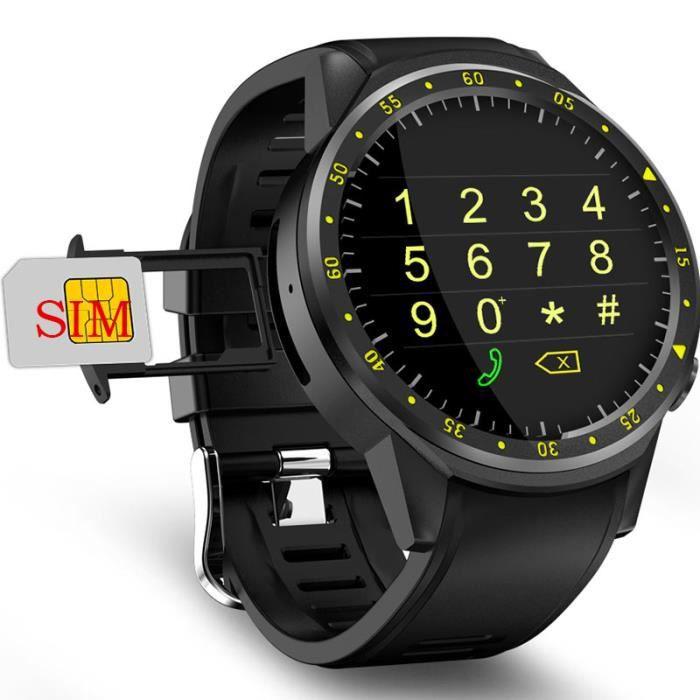 Noir-F1 montre intelligente hommes carte SIM sport SmartWatch GPS Support podomètre Bluetooth 4.0 caméra