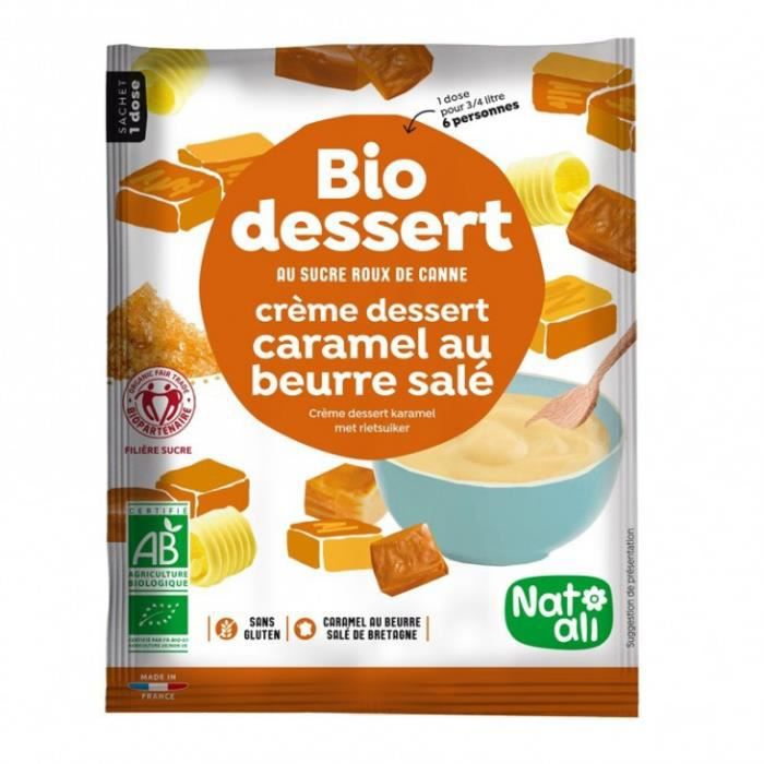 Bio gourmandise crème caramel beurre salé 60gr