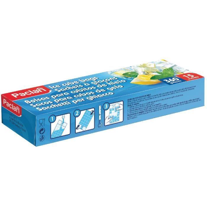 Sachet glaçons - 15 sachets de 24 glaçons