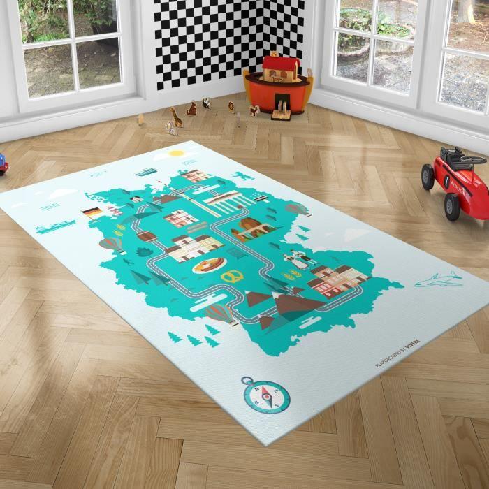 PLAYGROUND Tapis de Jeux pour Enfants - Tapis de Chambre - Allemagne - 100x150 cm
