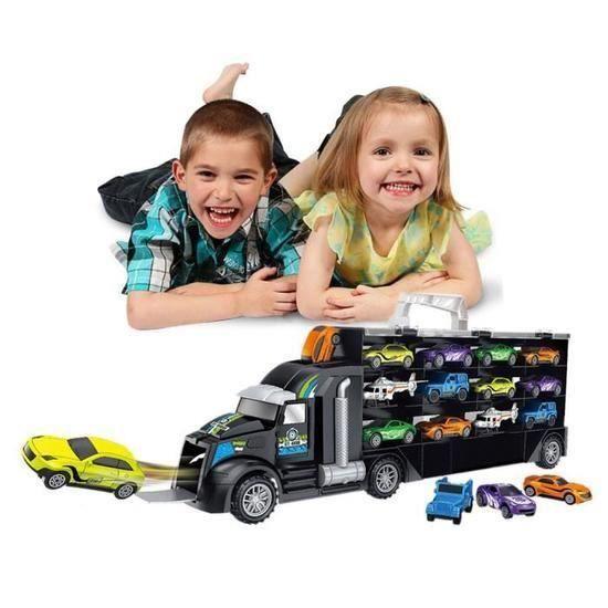 Transport Transporteur de voitures camion Véhicules jouets éducatifs Voiture cadeau pour enfants @CONSOLE EDUCATIVE 9968