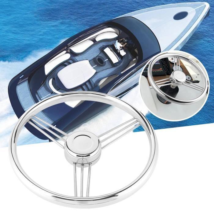 WIPES 13-1-2po Volant de Bateau Marin à 9 Rayons en Acier Inoxydable 15 ° Accessoire de Polissage pour Yacht
