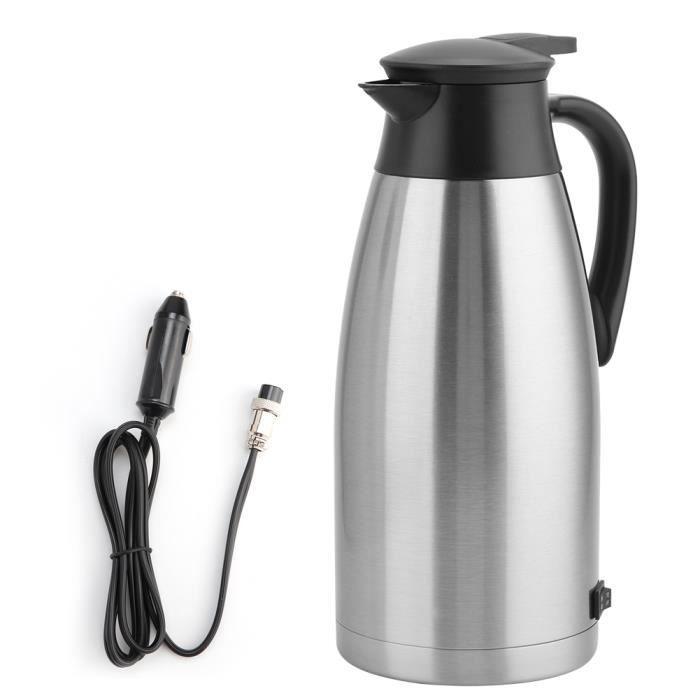 Bouilloire Pot, Poignée Ergonomique Allume-cigare 24V Camping Cafetière 1.8L Étanche pour Thé à Eau Conduite Longue Distance