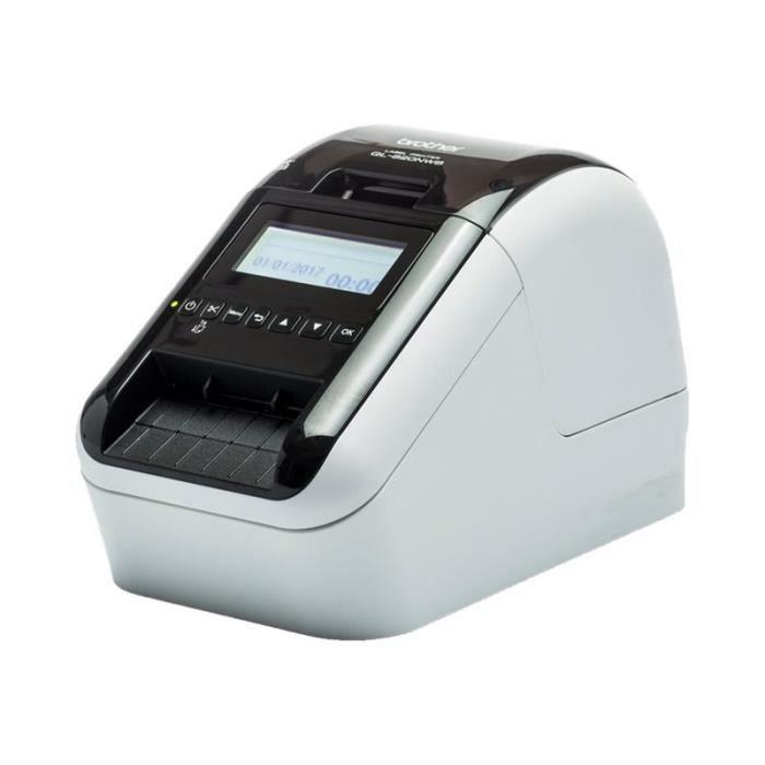Brother QL-820NWB Imprimante d'étiquettes deux couleurs (monochrome) papier thermique rouleau (6,2 cm) 300 x 600 ppp jusqu'à 176…
