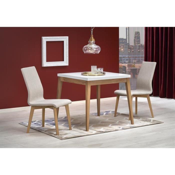 Table à manger carré 80 cm x 80 cm x 78 cm