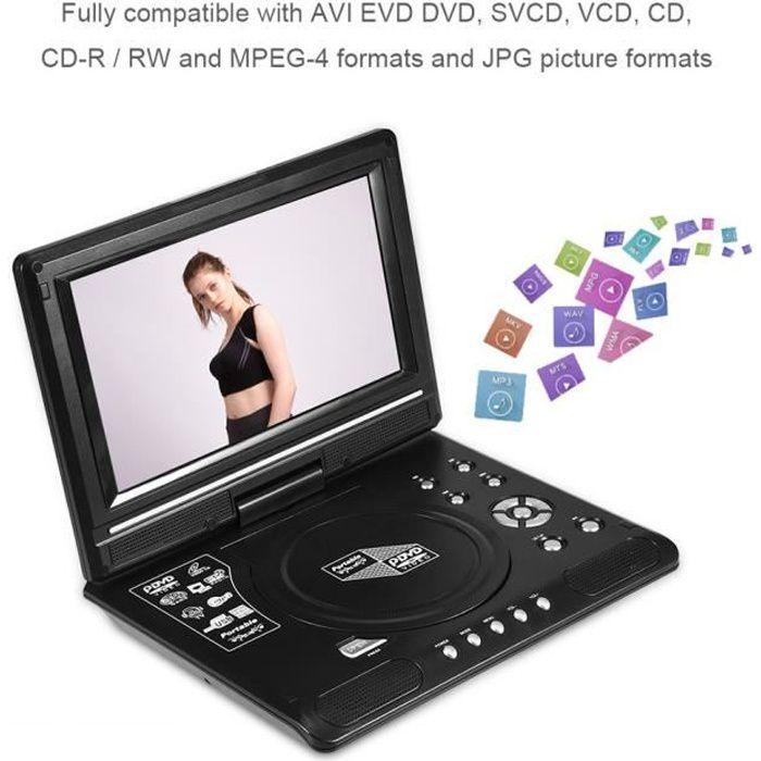 Lecteur DVD Portable Ecran Rotatif 9 pouce