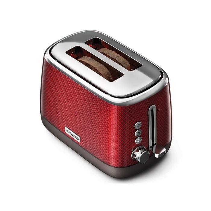 grille pain avec 2 fentes 980W rouge