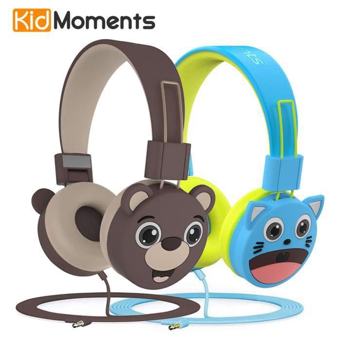 Casques Audio enfant-Protection de l'audition,limitation du Volume à 85dB-sans BPA,Casques câblés pour Enfants et bébés