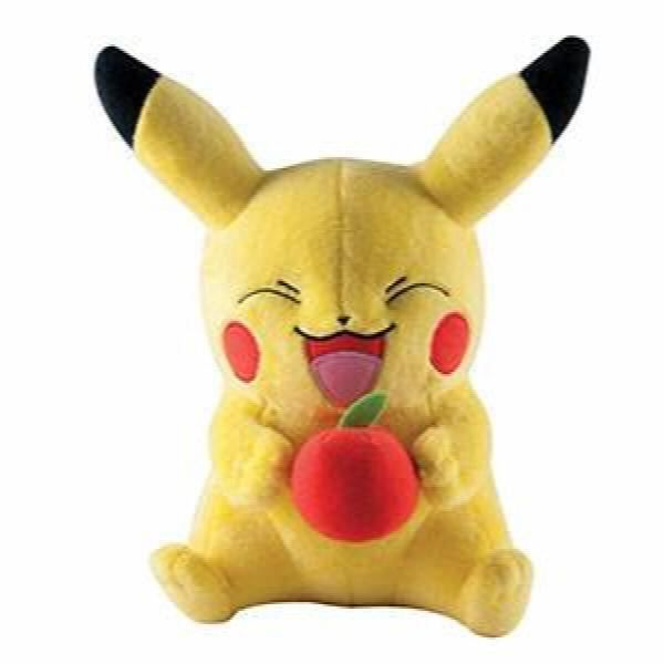 TOMY Pokémons Grande peluche, Pikachu avec Apple 1JERHZ