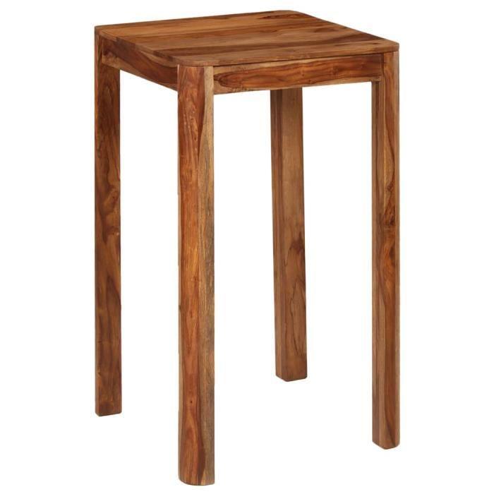 Table de bar Bois de Sesham massif 60 x 60 x 107 cm - Brun - Meubles/Tables/Tables de salle à manger et de cuisine - Brun - Brun