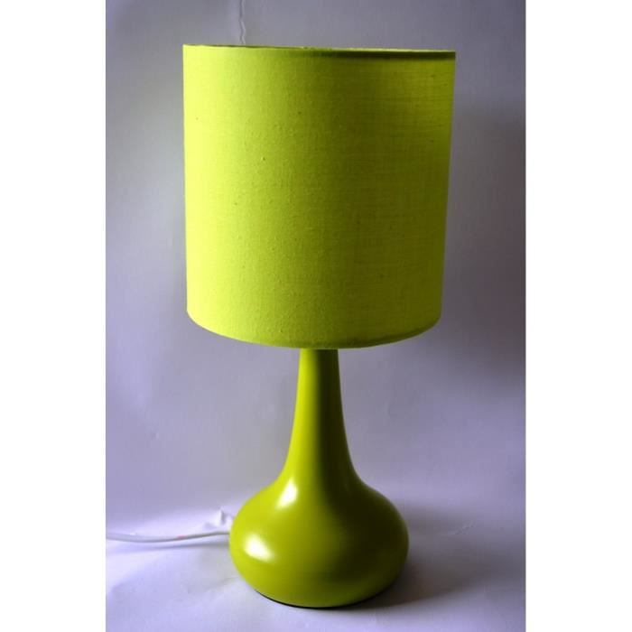 lampe de chevet tactile vert achat vente lampe de chevet tactile ver cdiscount. Black Bedroom Furniture Sets. Home Design Ideas