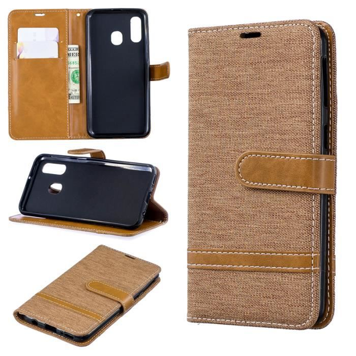 coque samsung a40 marron